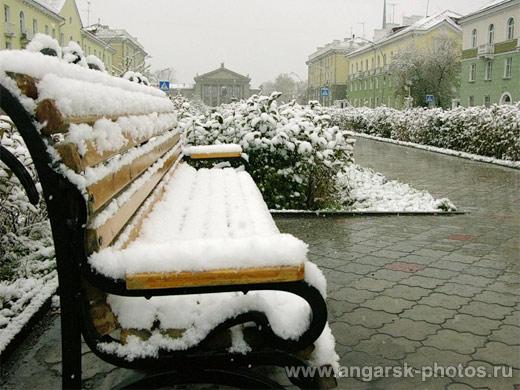 Первый снег в Ангарске