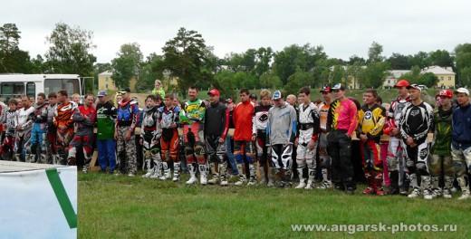 Участники мотокросса в Ангарске