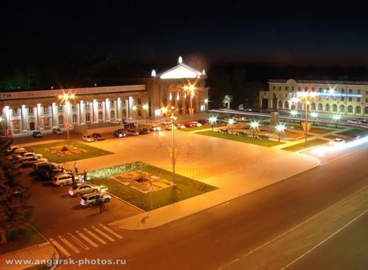 Ночная площадь Ангарска