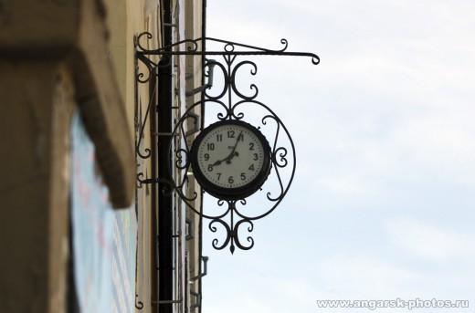Часы на улице Ангарска