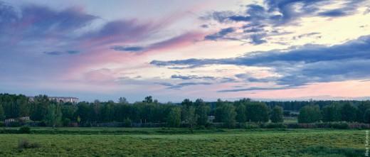 Закат над Ангарском