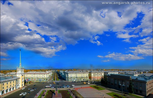 Площадь Ленина в сумерках